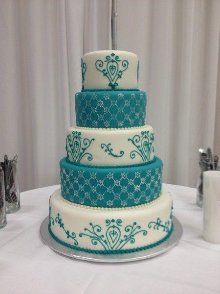 Teal Wedding Cake Google Search