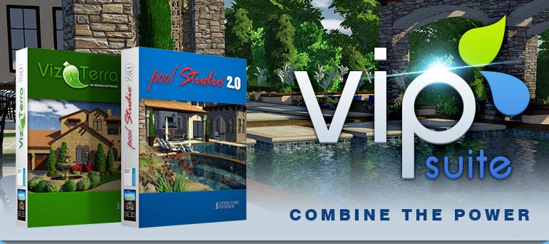 Pool Studio And Vizterra Are The Leading 3d Professional Hardscape And Landscape Design Software And 3d Landscape Design Software Software Design Pool Designs