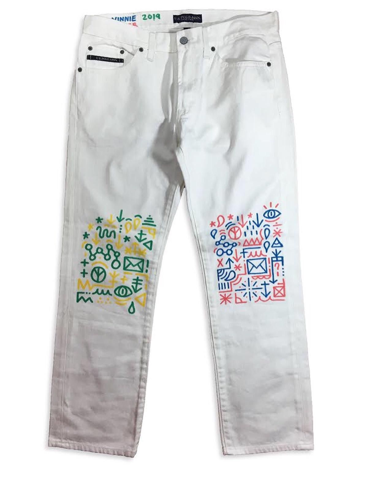 Art Hand Drawn Commission I Did On A Pair Of Us Polo Pants How To Draw Hands Pants Womens Shorts