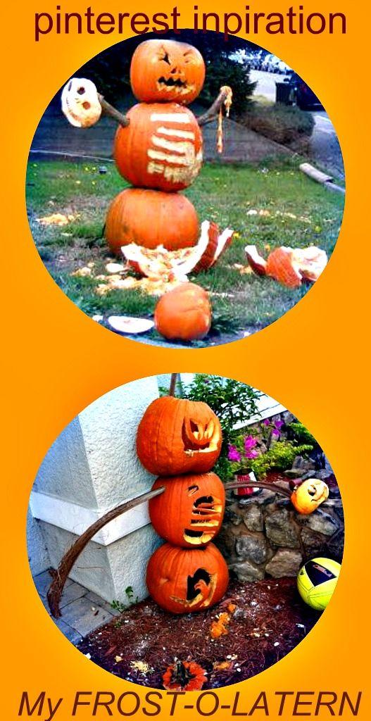 jack-o-laterns, frosty the snowman loves Halloween, Halloween, DIY - halloween diy crafts
