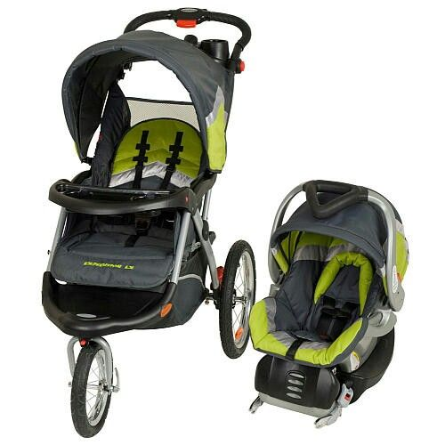 Black N Green Gray Infant Car Seat With Stroller