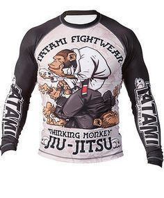 Tatami Fightwear Chris Burns Thinker Monkey BJJ Short Sleeve Rashguard