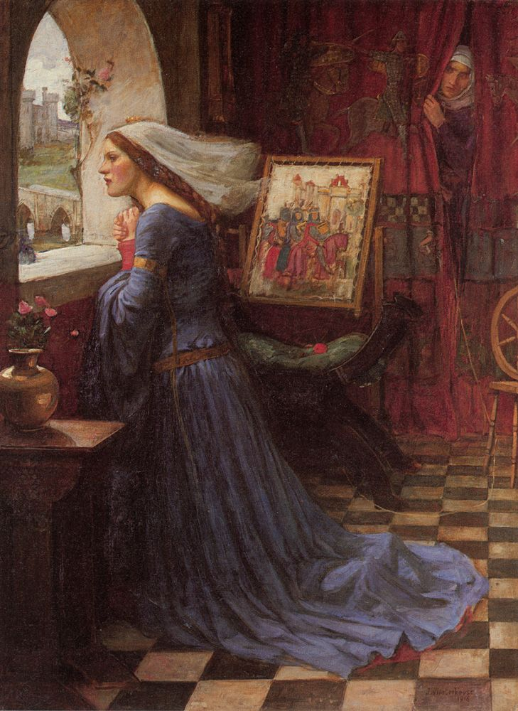 "Waterhouse 66  Fair Rosamund  1917Oil on canvas  37.99"" x 28.35"""