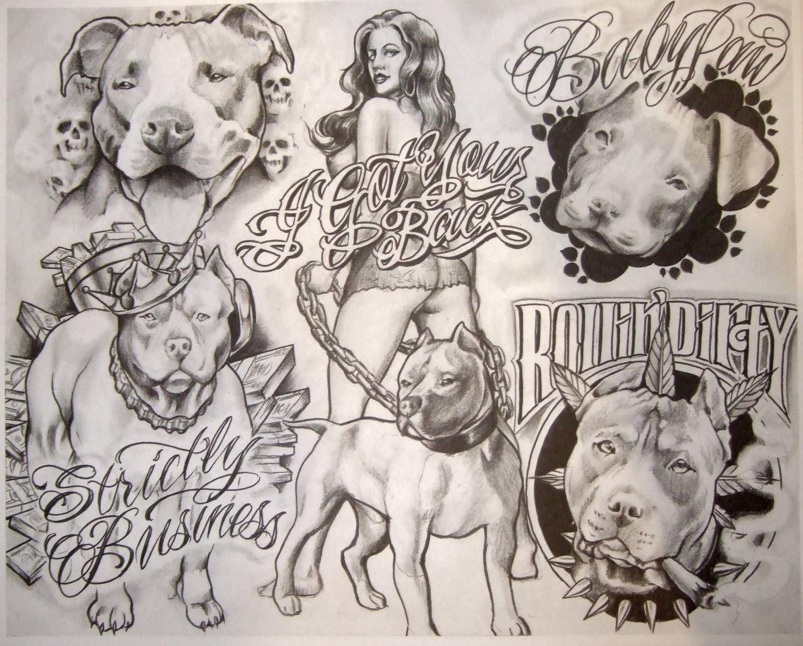 Chicano typography tattoo