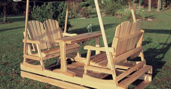 Deluxe Garden Glider Rustic Log Furniture In 2019