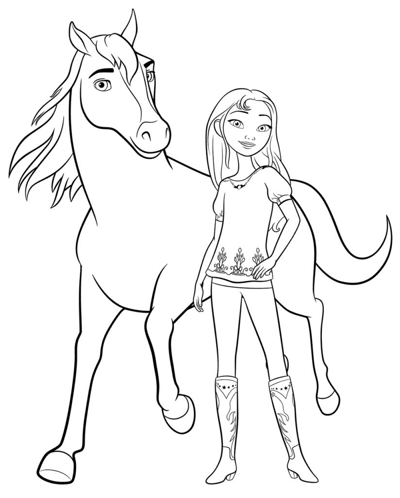 ausmalbilder pferde spirit  klicke hier um dein gratis