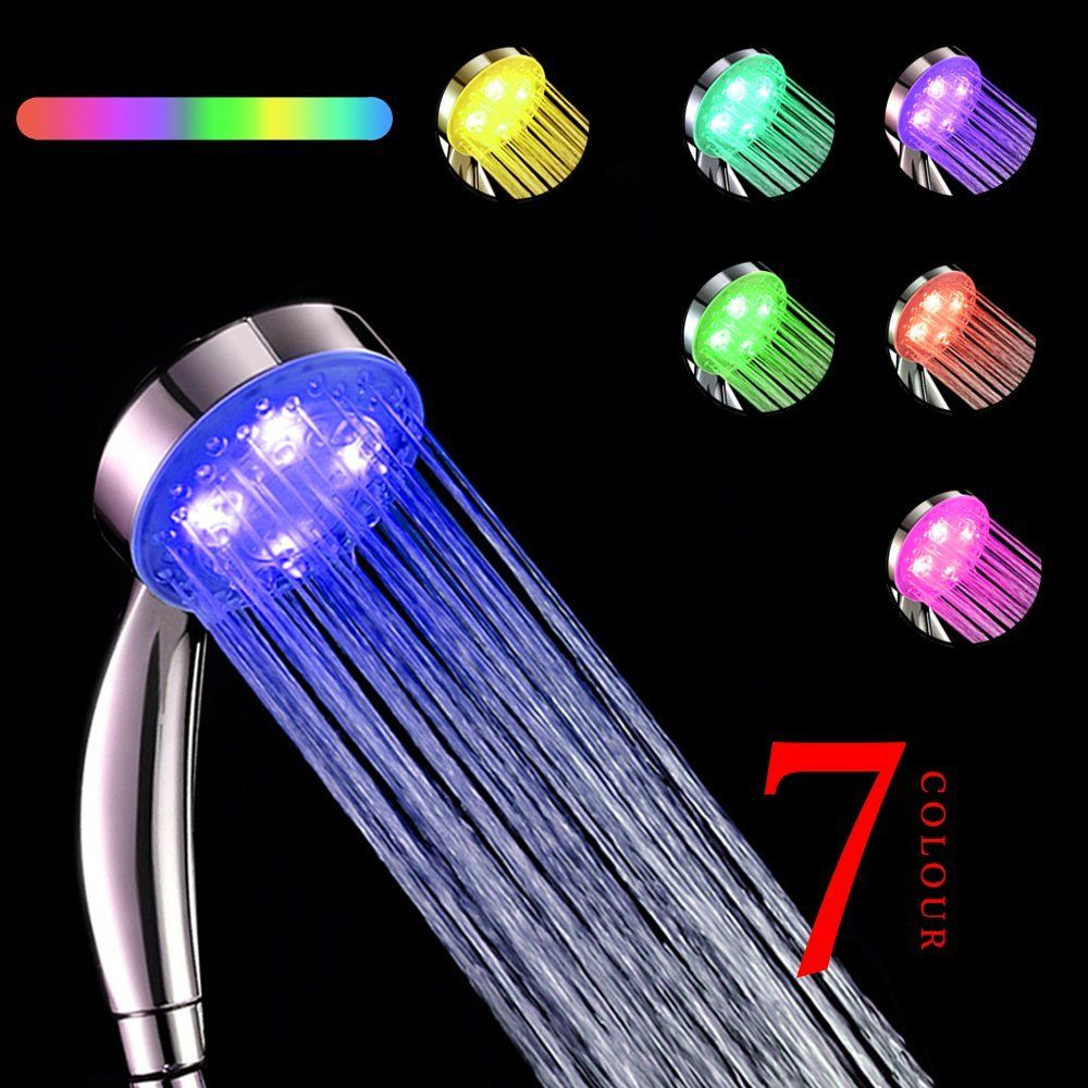 Wholesale LED shower head without retail box,water flow power 7 ...