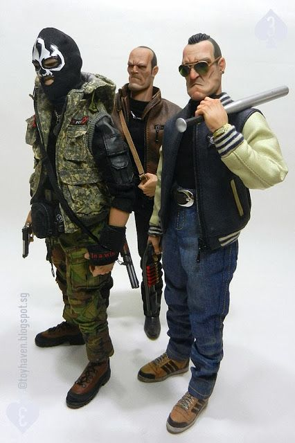 DAM Toys 1/6 scale Gangsters Kingdom Spade trio: The Terrible Threesome - Spade J, 2 and 3