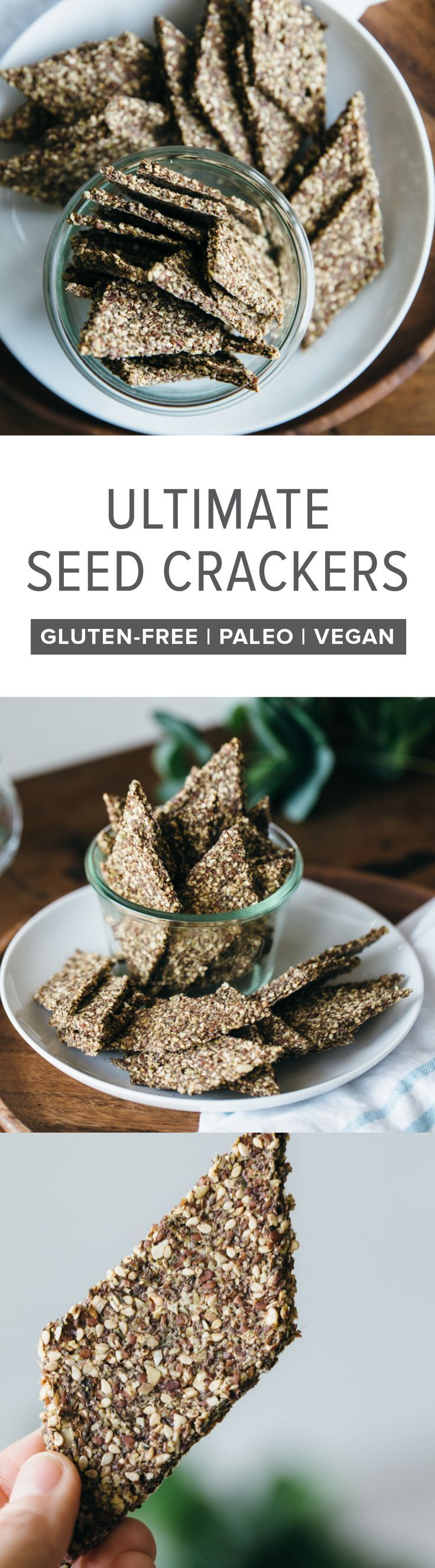 ultimate seed crackers rezept brote pinterest glutenfrei vegan und brot. Black Bedroom Furniture Sets. Home Design Ideas