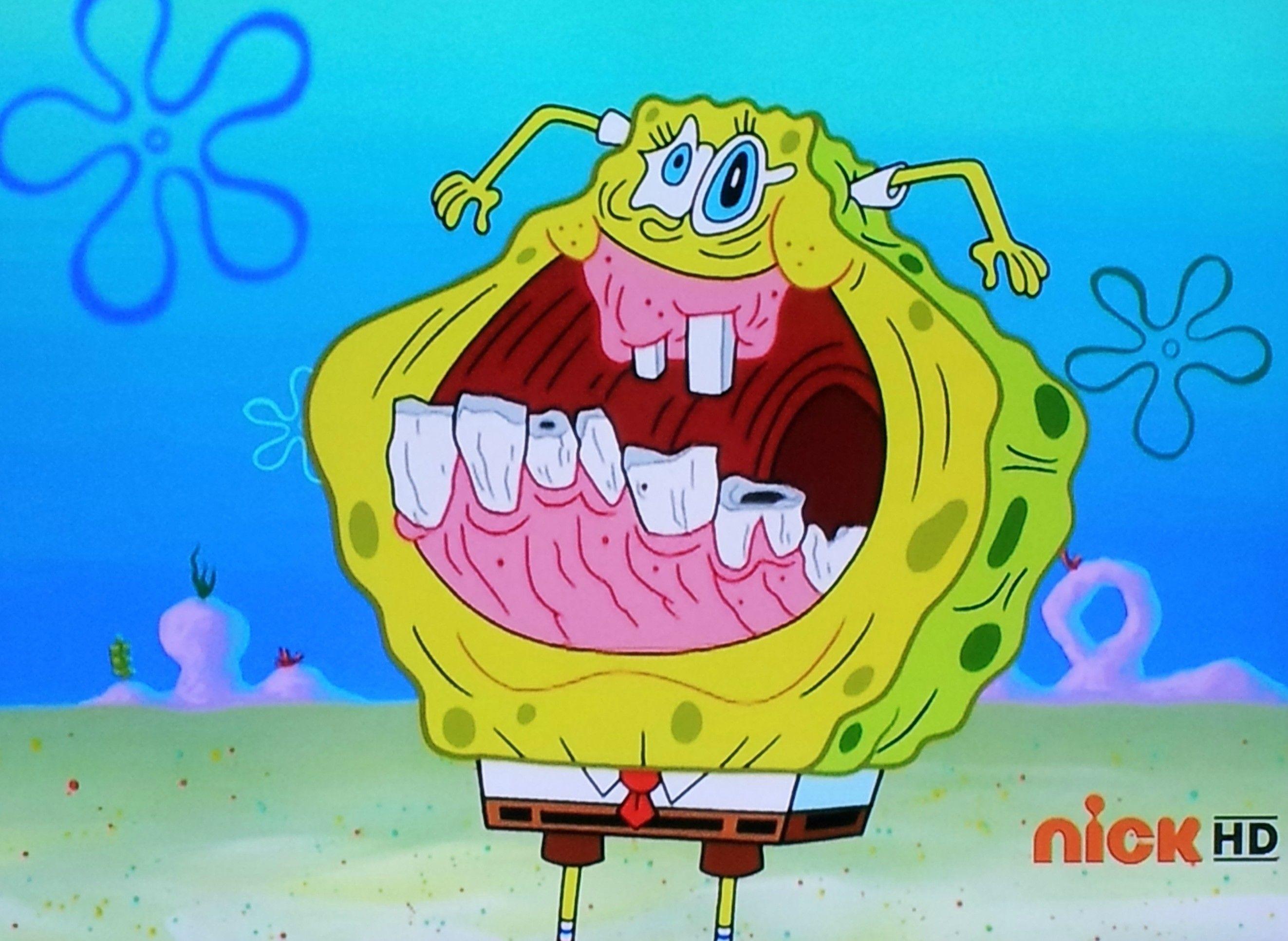 Spongebob has every face ever created