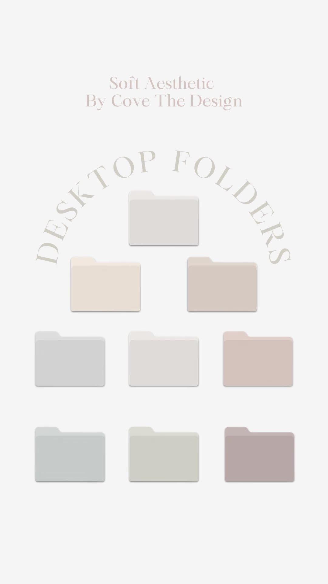 Macbook Desktop Icon Folders Custom Colors