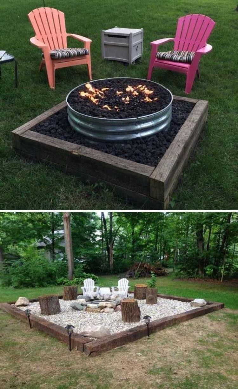 53 Minimalist Backyard Fire Pit Landscaping Ideas On A Budget