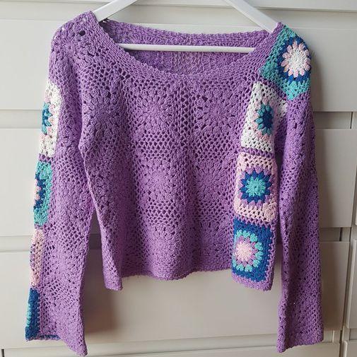 5100481ff7 Jersey algodón crochet - Chicfy | Crochet | Croché, Blusas tejidas a ...