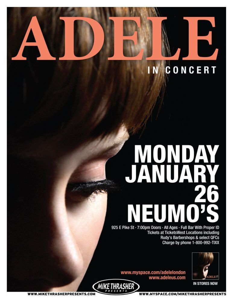 Adele in Concert Concert Posters Music Posters Pinterest - concert flyer