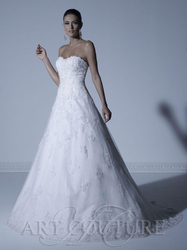 Trägerloses Hochzeitskleid A Form, Modell: AC339L F | Foto: Art ...