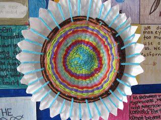 Paper Plate Weaving Step by Step   School Stuff   Paper ...
