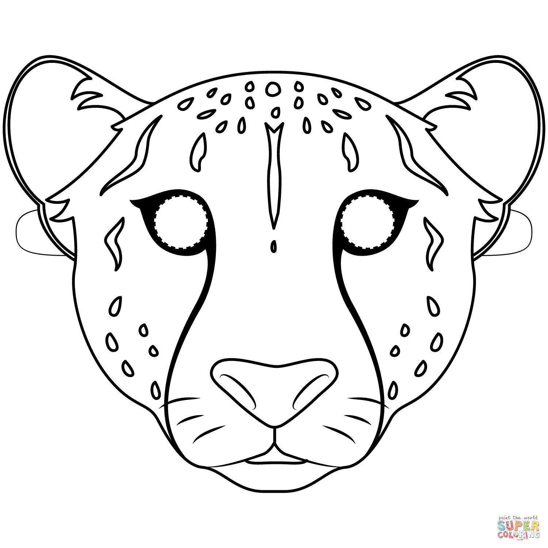 Cheetah Mask Coloring Page Free Printable Coloring Pages Printable Coloring Masks Free Printable Coloring Free Printable Coloring Pages