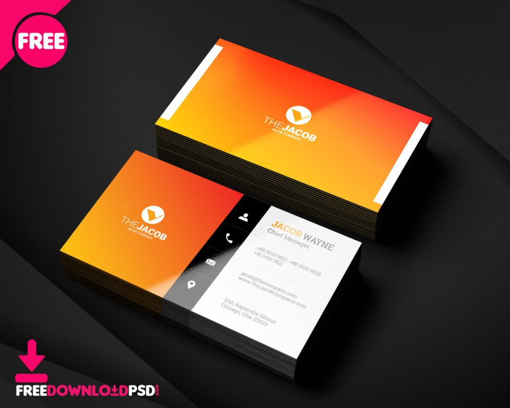 Modern Corporate Business Card Formal Business Card Free