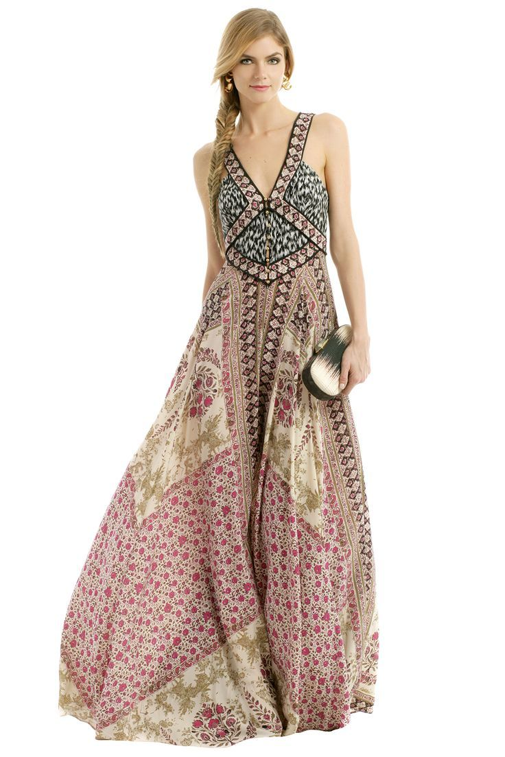Boho chic studded dress, modern hippie upper arm band ...