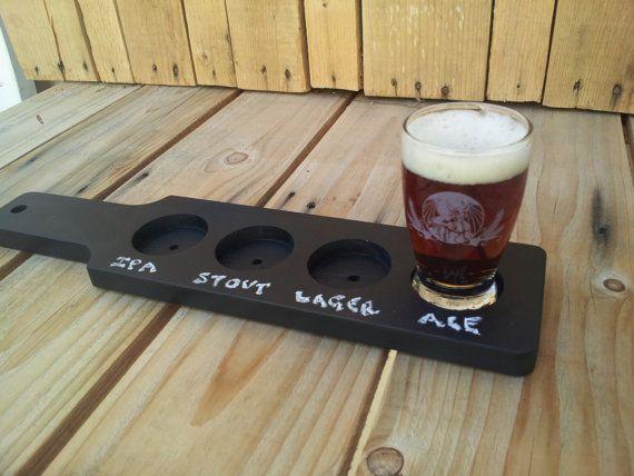 chalkboard beer flight paddle tasting paddle beer in 2018