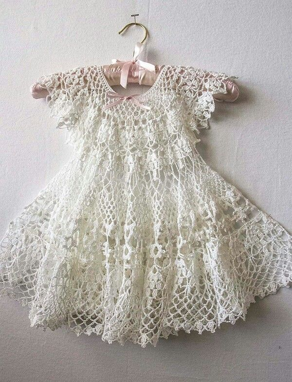 Gorgeous crochet baby dress! | lola happy 1 year | Pinterest ...
