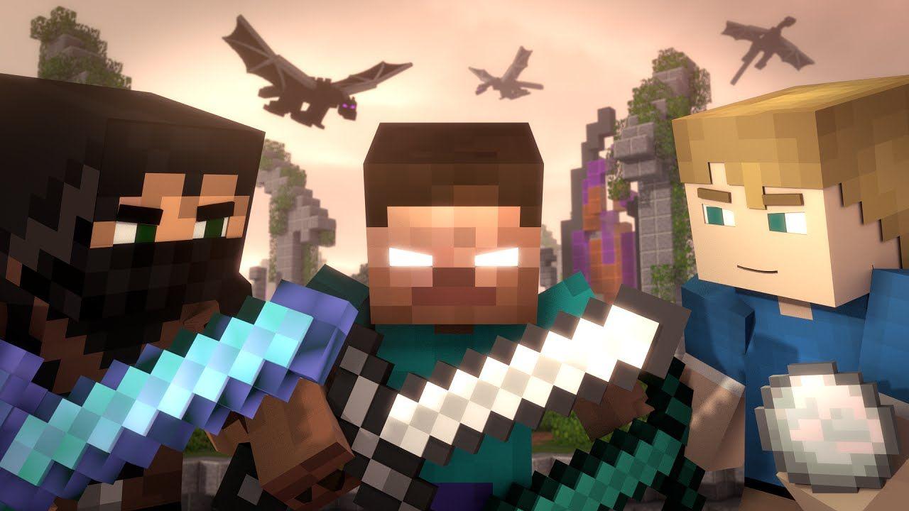 animated minecraft pictures | Skywars: MEGA (Minecraft