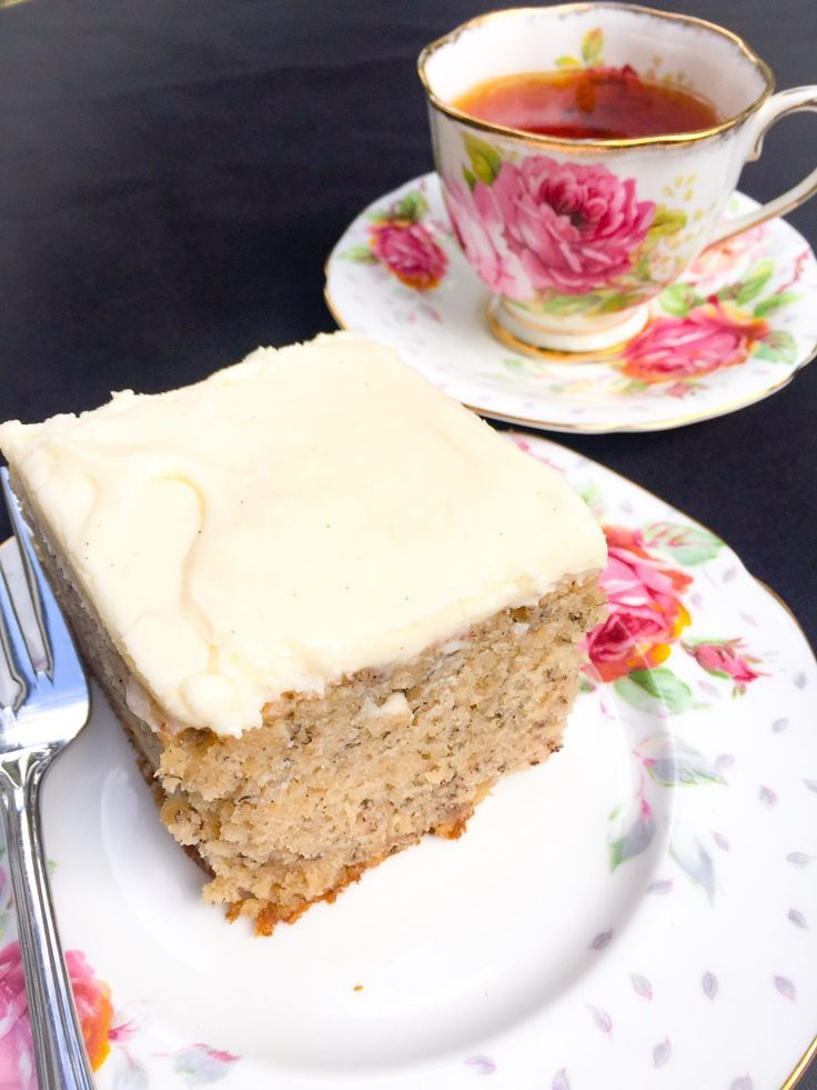Frosted Banana Cake - is sweet and moist and chock full of great banana flavour!
