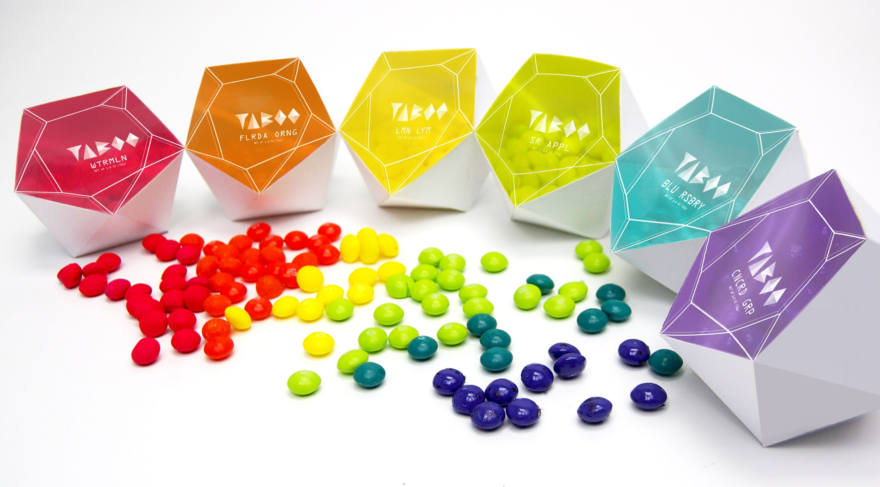 TABOO Candy Packaging Spencer Huddleston Colorful Candy Prism - 30 genius packaging designs