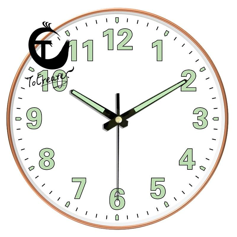 12 Inch 30cm Luminous Living Room Creative Mute Modern Fashion Watch Hanging Clock Modern Design Hanging Clock Wall In 2020 Hanging Clock Clock Wall Clock