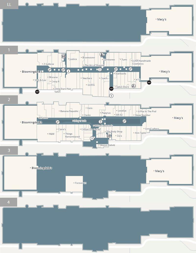 Westfield Fashion Square Shopping Plan Westfield Sherman Oaks Square