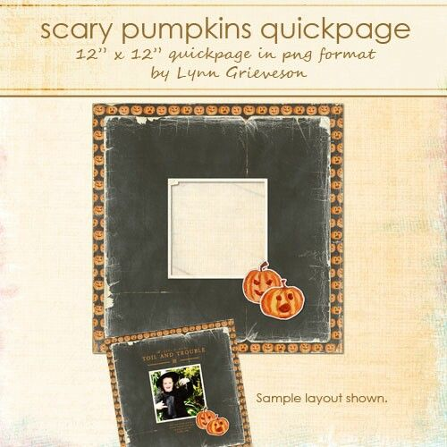 Scary Pumpkins Quick Page