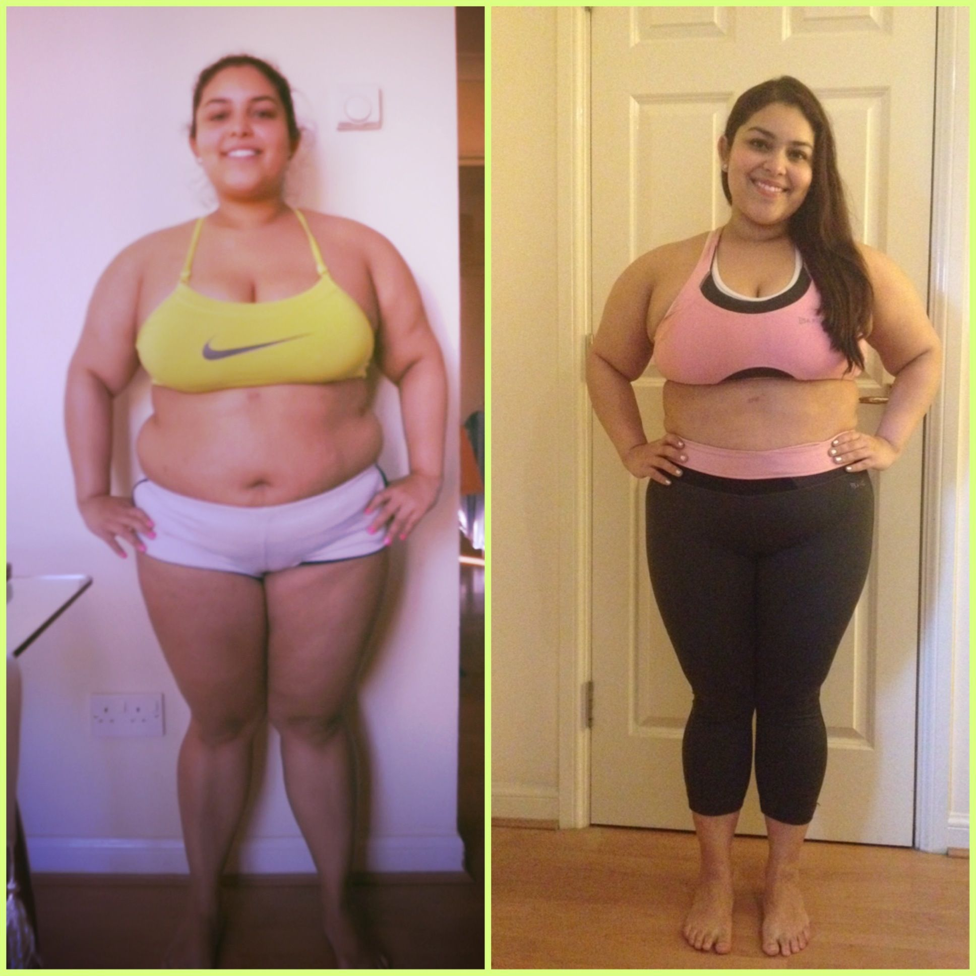 My before and after photo from doing Beachbody's T25 workout