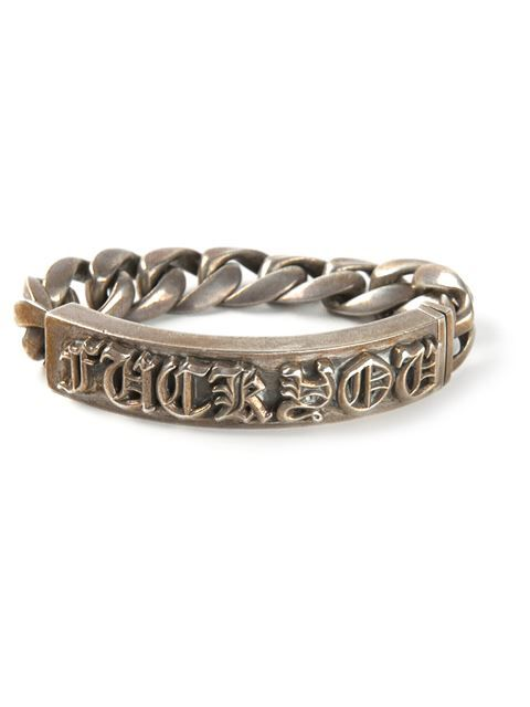 Shop Chrome Hearts Fuck You bracelet in Luisa World from the