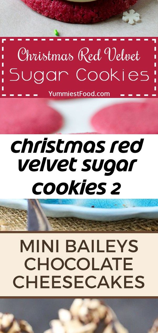 Christmas red velvet sugar cookies 2 CHRISTMAS RED VELVET SUGAR COOKIES  Perfect and easy cookie recipe for Christmas or any festive time of year The delicious flavor of...