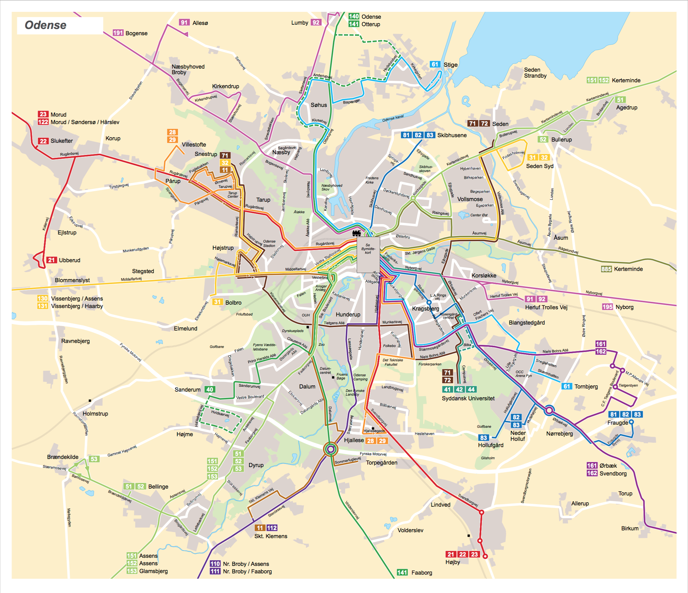 Bus map Odense Maps Route Pinterest Odense and Bus map