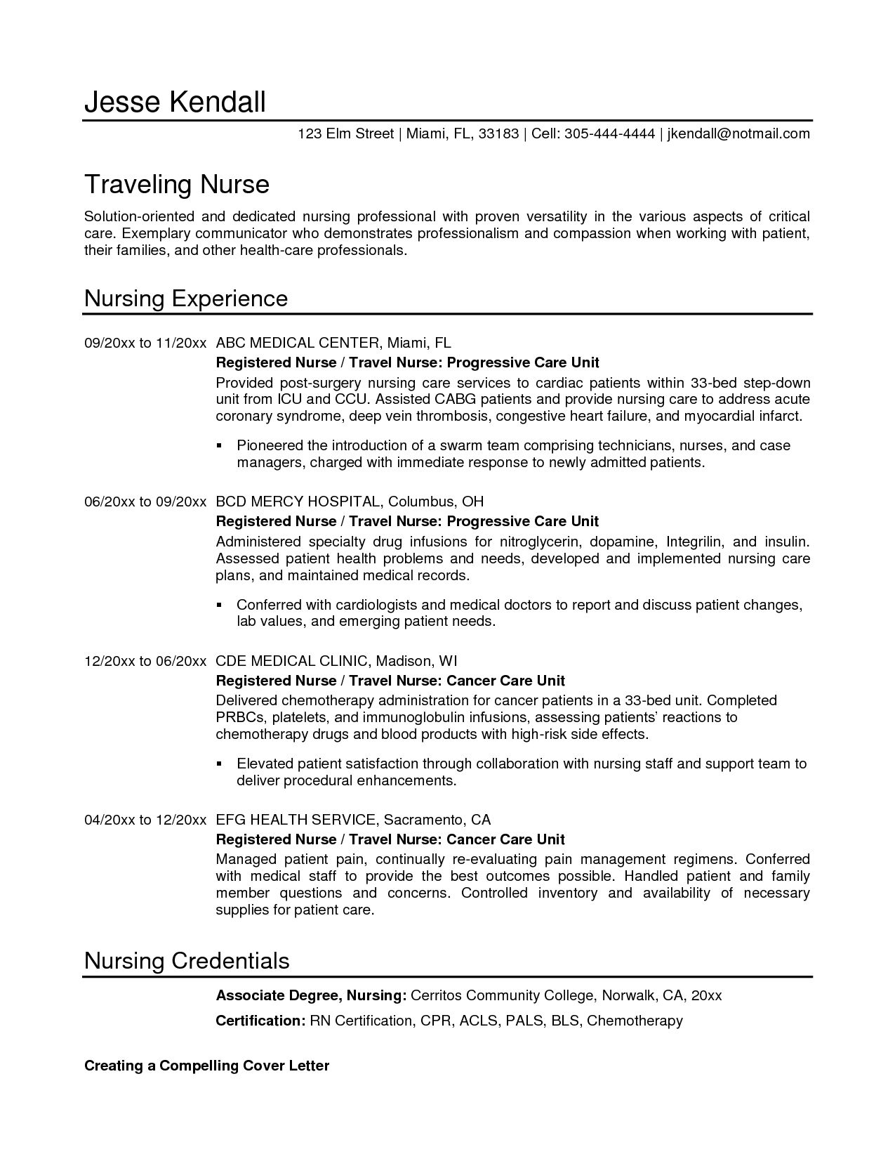 International Nurse Cover Letter Lead Trainer Sample Resume