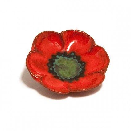 Poppy Pin brooch enamel | poppy remembrance day | Poppy pins