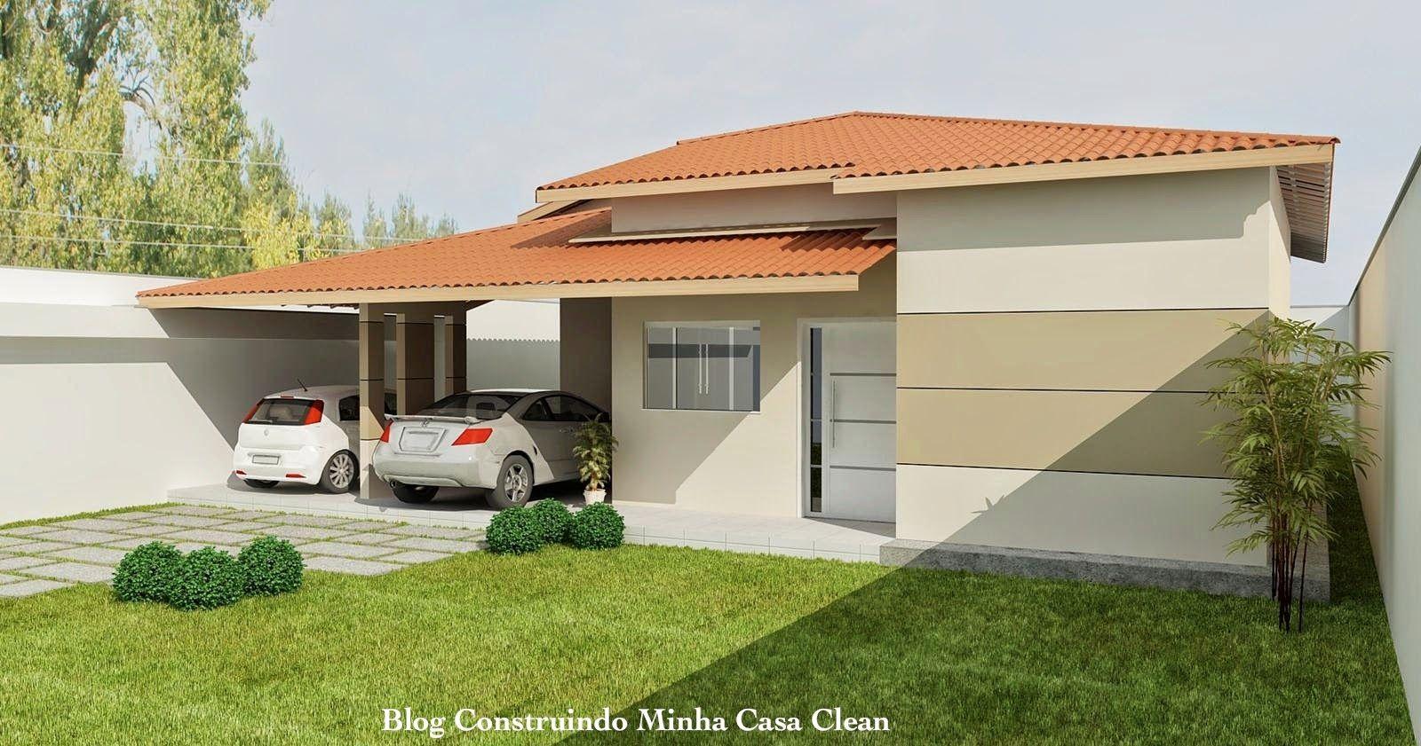 fachadas de casas t rreas pequenas com garagem fachadas
