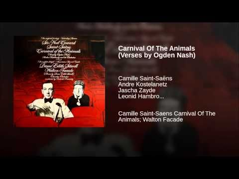 Carnival Of The Animals (Verses by Ogden Nash) - YouTube