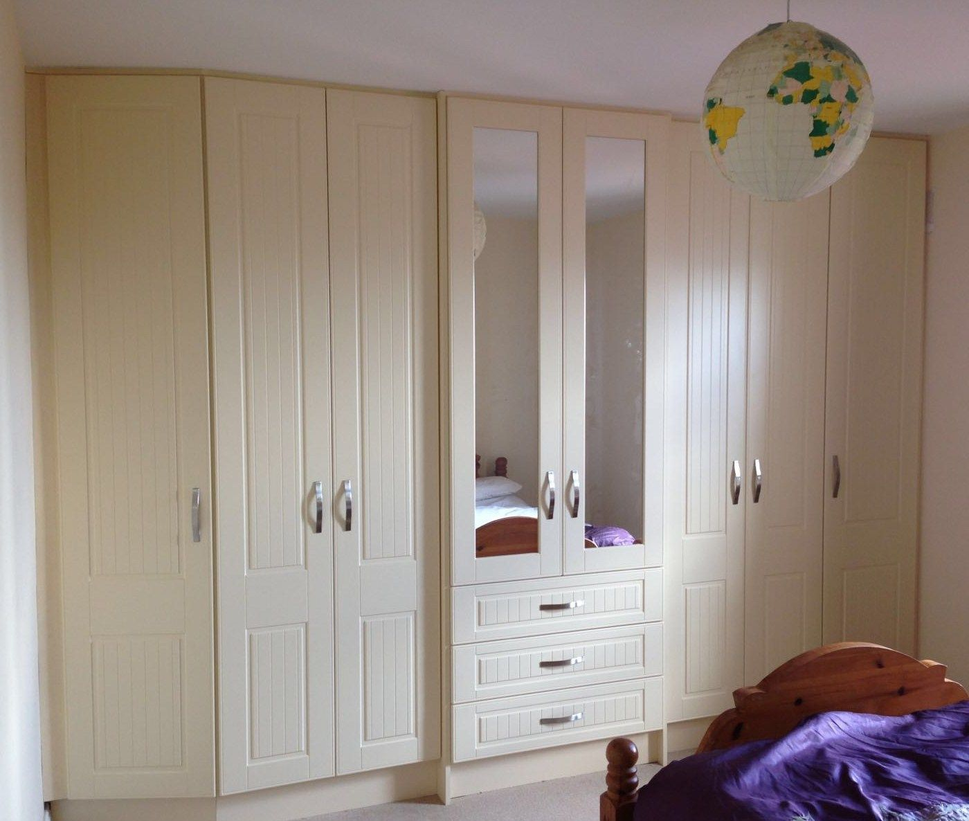 A Angled Ivory Fitted Wardrobenewhaven Kitchens Carlow Extraordinary Wardrobe Kitchen Designs Review