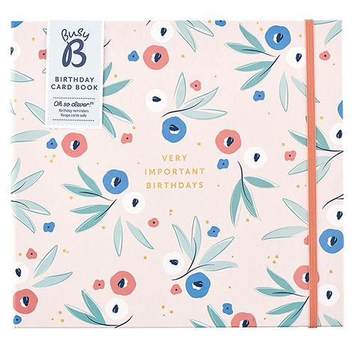 Birthday Card Organiser Blossom In 2021 Birthday Card Book Birthday Cards Card Book