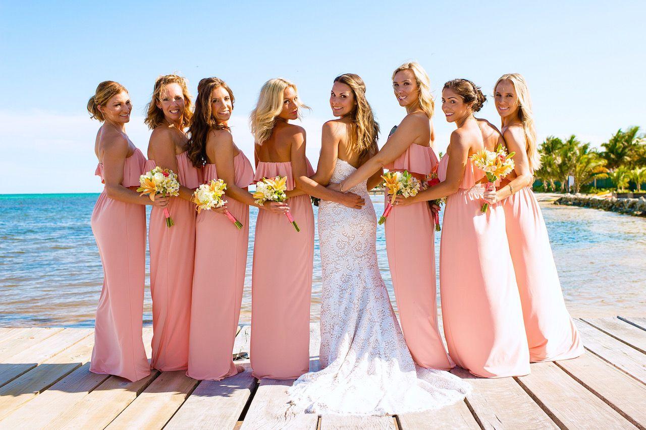 J Bride wearing Ti Adora 7407 boho wedding gown/ Beach wedding | J ...