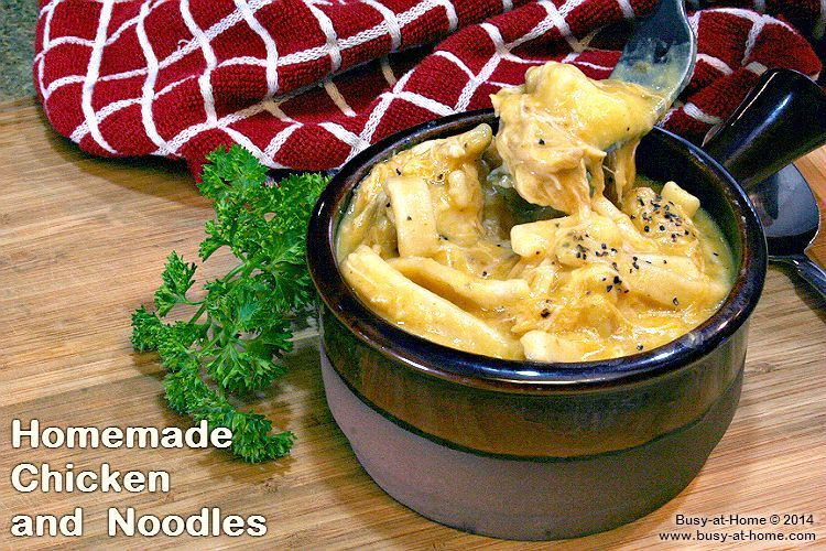 creamy homemade chicken and noodles over mashed potatoes