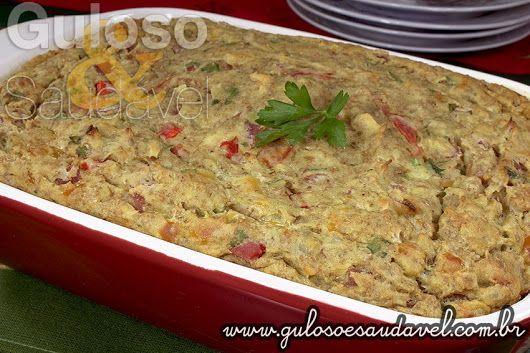 #BomDia! Que tal esta Torta Salgada de Batata Doce para o #almoço ser super leve, nutritivo e saboroso?  #Receita aqui: http://www.gulosoesaudavel.com.br/2013/11/13/torta-salgada-batata-doce/