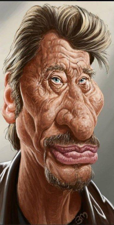 Johnny Hallyday Cartoon Pinterest Caricature Celebrity