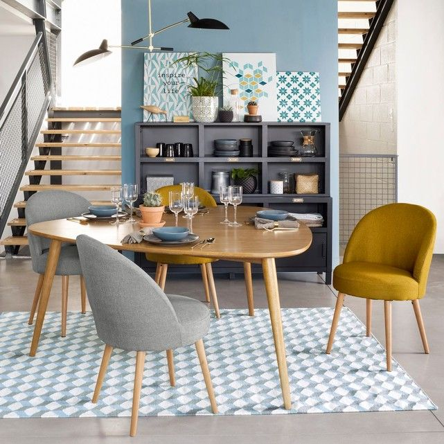 Table chêne 6 couverts, QUILDA Pinterest Salons
