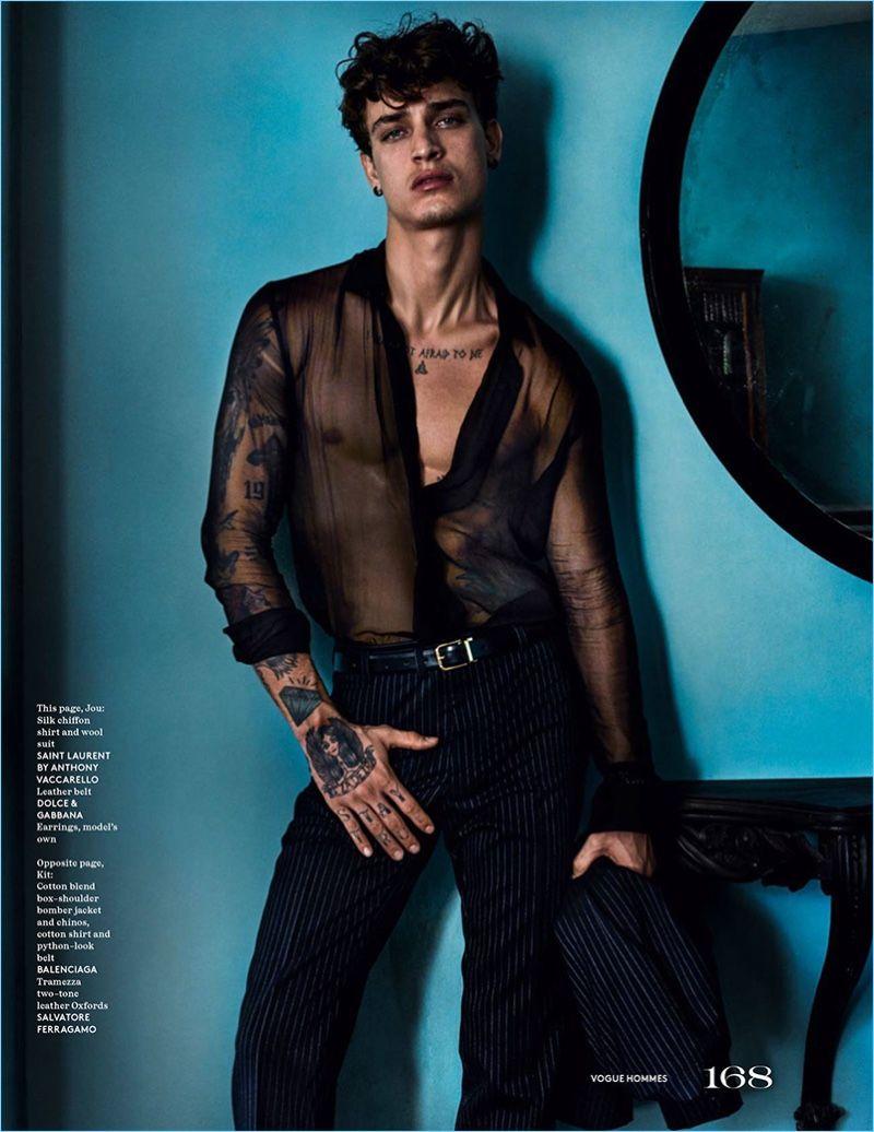 City of the Gods: Mario Testino Shoots Vogue Hommes Paris Cover Shoot   – Men's Fashion