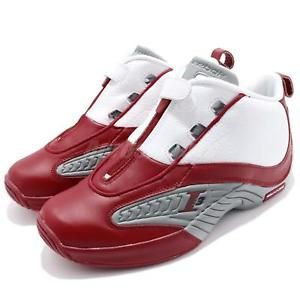 Reebok Answer IV 4 Allen Iverson I3 OG White Red Grey Mens Basketball V44403 42ebdba57