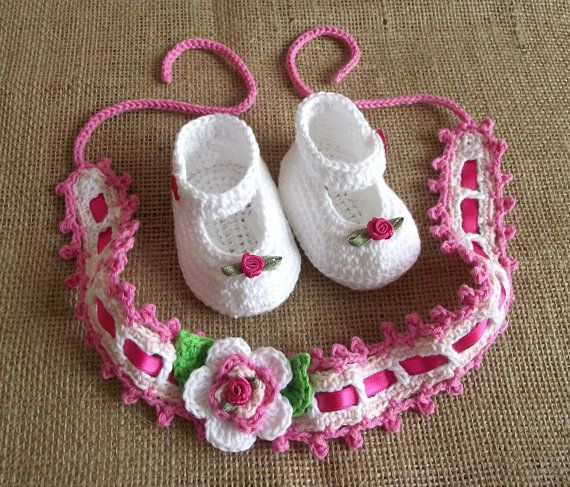 CROCHET PATTERN Baby Set Shoes and Headband by LiliaCraftParty ...