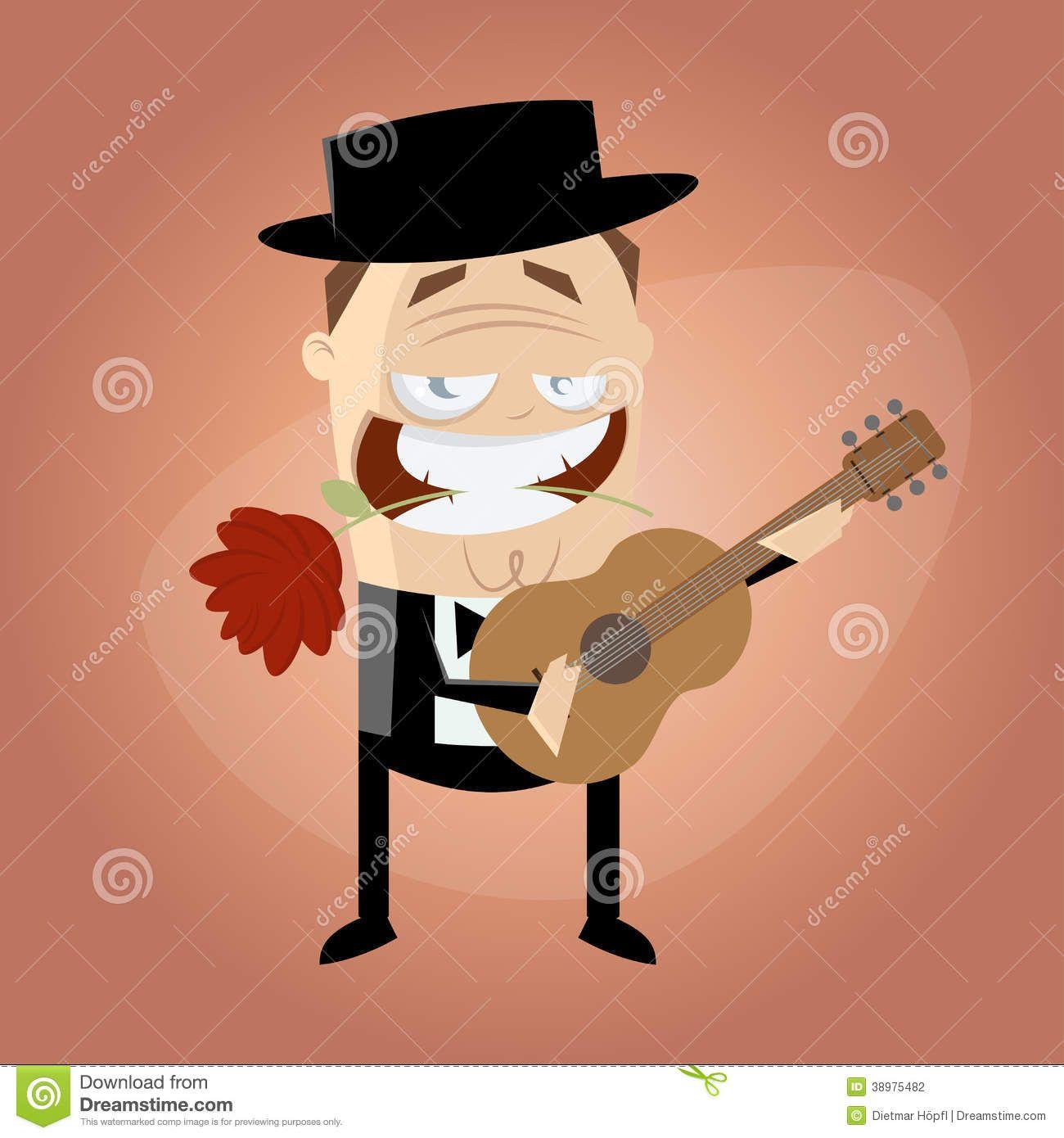 ilustração violonista - Pesquisa Google